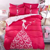 绚典家纺全棉斜纹四件套 成人儿童卡通萌系动漫床上用品纯棉床单卡通被套4件套床上用品