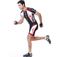 骑行服短袖套装 自行车服男女单车裤硅胶垫骑行短裤 夏季排汗透气速干衣