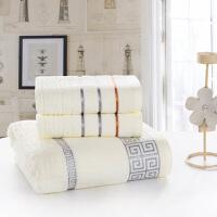 【领券立减50】纯棉加厚毛巾浴巾三件套装成人男女情侣家用洗澡套巾加大吸水