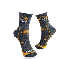 户外运动袜舒适透气秋冬季加厚中筒速干袜子男女登山跑步袜
