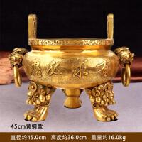 纯铜香炉有求必应家用供奉大号线香檀香炉室内铜鼎