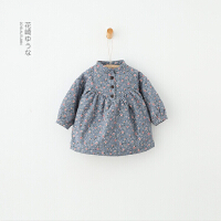 GY9305-秋冬新款童装女童小碎花长袖连衣裙