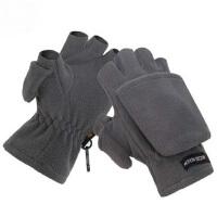 男女同款分码户外保暖抓绒半指翻盖手套 户外运动登山骑行保暖加厚摄影手套