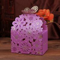 结婚庆用品欧式浪漫喜糖袋婚礼糖果盒纸盒雕刻花喜糖盒子