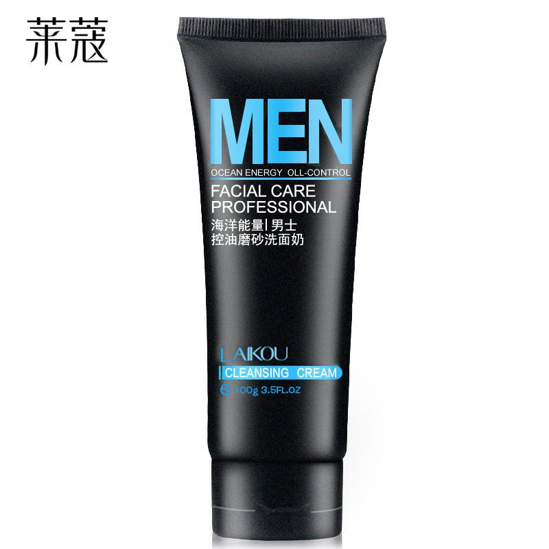 莱蔻男士洗面奶补水收缩毛孔祛黑头深层清洁洁面乳护肤品 深层洁净 平衡油脂