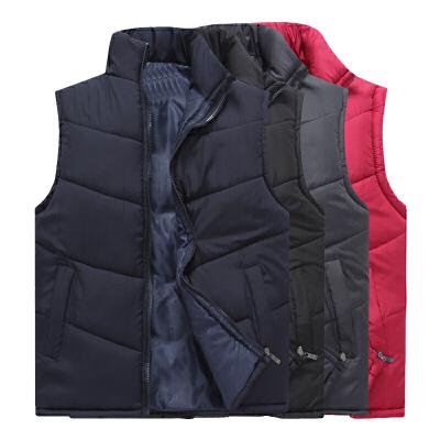 秋冬季中老年男装冬装纯色加厚保暖丝棉马甲背心中年男士大码马夹 发货周期:一般在付款后2-90天左右发货,具体发货时间请以与客服协商的时间为准