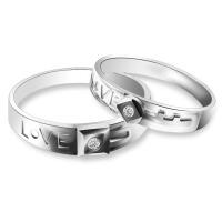 梦克拉 唯有爱 PT950钻石对戒 情侣戒 铂金对戒 求婚戒男戒女戒
