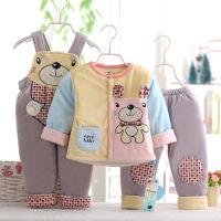 卡童乐比乐 2017冬款童装儿童男童棉衣棉服加棉南极棉三件套男童 婴童套装