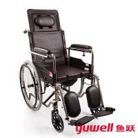 鱼跃(YUWELL) 轮椅 折叠老人轻便残疾人代步车H059B 高级护理型
