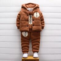 2018新款童装冬装男童宝宝套装小童儿童卫衣女童婴幼儿加厚三件套
