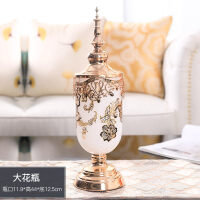 玻璃花瓶摆件客厅插花大号电视柜餐桌花艺美式复古家居装饰品玻璃花瓶儿w