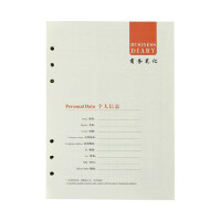 活页笔记本替芯6孔活页内芯A5 道林活页纸 记事本更换芯加厚100张