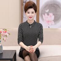 中年女秋冬装加绒保暖高领打底衫40岁50妈妈装中老年长袖上衣潮60