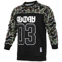 Adidas阿迪达斯 三叶草 男子 运动卫衣 保暖针织休闲套头衫 BQ6444