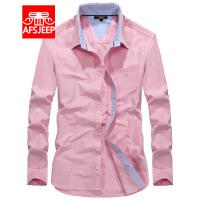 战地吉普AFS JEEP男士衬衫 纯棉衬衣男 男装长袖衬衫 商务休闲免烫衬衣