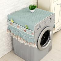 布艺欧式滚筒洗衣机罩海尔西门子小天鹅洗衣机防尘罩洗衣机盖布巾