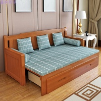 实木沙发床可折叠小户型多功能1.2米书房坐卧两用1.5客厅1.8双人 2米以上
