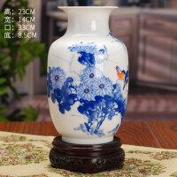 景德镇瓷器客厅陶瓷花瓶现代时尚白色摆件家居摆设装饰工艺品送女友送男友