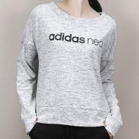 Adidas阿迪达斯 NEO 女子 运动卫衣 休闲圆领套头衫CD2391