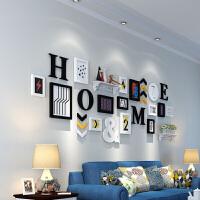 客厅照片墙相框墙创意相片挂墙相框组合北欧字母相片墙画框装饰