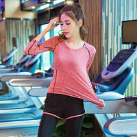 瑜伽服长袖上衣 运动衣上装跑步显瘦健身服速干衣女 上衣 2X