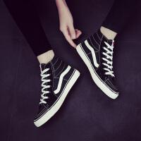 韩版ulzzang冬原宿风板鞋运动休闲 高帮学生帆布鞋男女鞋滑板鞋潮