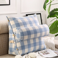 棉大三角靠垫带头枕棉腰床上靠背可拆洗沙发床头颈大靠枕T