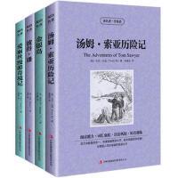 汤姆・索亚历险记 金银岛 彼得潘 爱丽丝漫游奇境记 全4册读名著学英语 中英文英汉对照 双语读物 与美国人同步阅读的英
