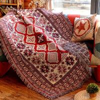 美式乡村单双人沙发巾纯棉全盖欧式田园布艺沙发套罩双面桌布盖巾 苏米诺