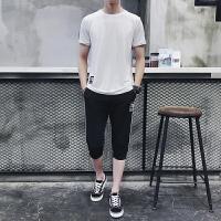 运动套装男夏季薄跑步健身服短袖T恤五分短裤休闲套装