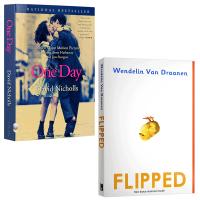 正版 Flipped 怦然心动 One Day 一天 英文原版电影原著2本 全英文版小说 正版现货进口英语书籍