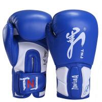 拳击手套散打拳套加厚泰拳手套格斗搏击训练比赛打沙包 TB04-3泰拳手套-蓝色