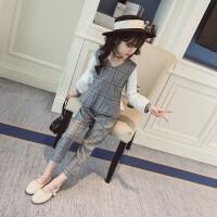 2018新款套装韩版时尚中大童衣服洋气女孩时髦两件套童装女童春装