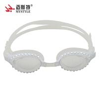 儿童镶钻泳镜 时尚 硅胶泳镜 儿童专用款