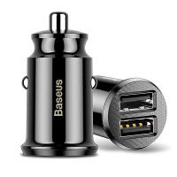 【包邮】倍思车载充电器 3.1A快充双USB口车充头汽车点烟器usb插头手机车充USB汽车用多功能迷你隐形一拖二隐形短