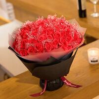 ????创意礼品生日礼物 女生七夕情人节礼物送女友肥香皂花束礼盒 喜迎国庆 红色