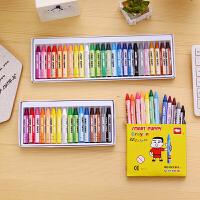 聪明狗16色25色12色学生儿童蜡笔油画棒彩画笔彩笔