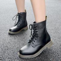 马丁靴女英伦风短靴春秋单靴学生女靴子粗跟短筒机车靴冬靴女鞋