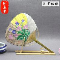 日本和风扇子 日式和风纸面团扇/樱花/祭典-cosplay