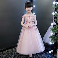 演出服生日晚礼服花童婚纱 2019新款儿童礼服公主裙女童蓬蓬纱钢琴