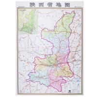 陕西省地图 个性创意尼龙绸版 0.84x1.16米 送朋友有新意 骑行自驾游地图携带方便