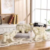 创意大象陶瓷摆件 欧式酒柜装饰品客厅创意现代家居陶瓷大象红酒架摆件乔迁新居礼品