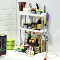 厨房置物架调味调料架整理收纳架落地储物架刀架双层架