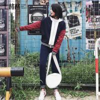 七格格 运动衣服套装女初秋季天2017新款韩版宽松时尚潮学生休闲两件套