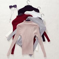 韩观秋冬新款毛衣女装韩版修身套头短款长袖半高领百搭加厚打底针织衫SN548 均码