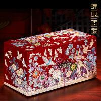 螺钿漆器结婚礼物首饰盒木质公主欧式耳环项链饰品收纳盒
