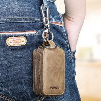 车钥匙包 男士多功能真皮大容量家用锁匙包汽车匙钥包通用钥匙套 支持礼品卡支付