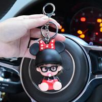 蒙奇奇钥匙扣男士女款韩国可爱创意钥匙链汽车钥匙圈情侣订制礼品 乳白色 米妮
