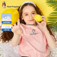【3件3折价:110.7元】暇步士童装女童短袖圆领衫2021夏季新款中大童冰氧吧短袖T恤