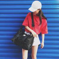 韩版短途旅行包女手提斜挎轻便简约健身包男行李包大容量旅行袋 中